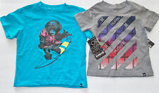 Hurley Toddler Infant Boys Gray or Blue T-Shirts Sizes 12M, 18M, 24M and 3T NWT