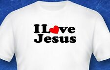 I love Jesus heart Religion Bible verse God Jesus digital print tshirt