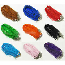 Promotion!! 50cm One Color For 10pcs Silk Ribbon Pendant Hang Rope Necklace Rope