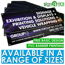 PVC BANNERS - CUSTOM PRINTED COLOUR OUTDOOR SIGN VINYL TRADE BANNER BIRTHDAY