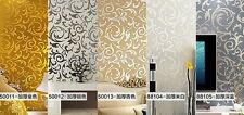 High-grade European Style Acanthus Leaf TV Setting Bedroom Wall Paper GAU