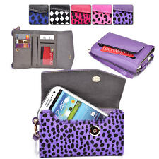 Womans Designer Patterned Wristlet Wallet Cover fits Motorola Mobile Cell
