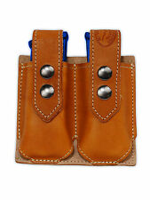 NEW Barsony Tan Leather Double Mag Pouch Colt Springfield 380 Ultra Comp 9 40 45