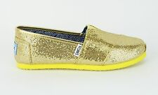 Toms Youth Classics Canary Glitter