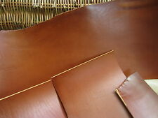 SADDLE TAN FULL GRAIN LEATHER PIECES 3.5-4mm (9-10 OZ) thick VARIOUS SIZE, craft