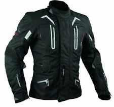 Biker Motorcycle CE Armours Warterproof Textile Touring Jacket Thermal Black