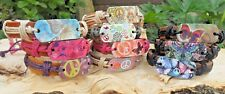 Peace Sign & Butterfly Genuine Leather Bracelet Assorted Designs & Colours NEW