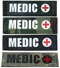 MEDIC Velcro Cordura Name Tag Tape Military Paintball Airsoft EMT Police