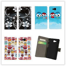 Owl PU Leather slot wallet Cover stand Flip Case for LG Optimus L9 II 2 / D605