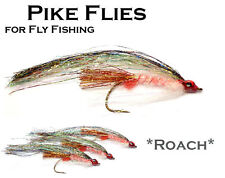 3x *ROACH* (MPF3) Pike Fly - Flies for Pike Saltwater & Predator Fly Fishing