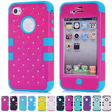 CHEAPEST~HOT Multi Colors Shockproof Back Case Cover  Skin For Apple iPhone 4/4S