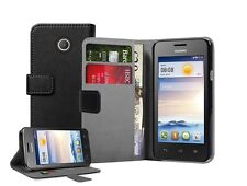 WALLET Leather Case Cover Pouch Saver for Mobile Phone Huawei Ascend Y330