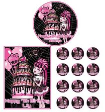 DRACULARA Monster High Edible Cake Topper Cupcake Image Decoration Birthday