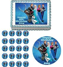 FROZEN Edible Cake Topper Cupcake Image Decoration Birthday Party