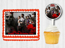 THE WALKING DEAD Cake Topper Cupcake Image Decoration Birthday Party