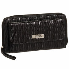Kenneth Cole Reaction Women's Textured Urban Organizer Large Clutch Wallet Logo