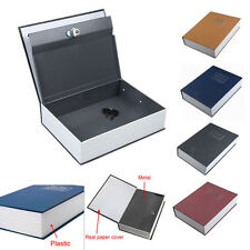 Security Safe Dictionary Books Metal Case Protect Cash Money Jewelry Storage Box