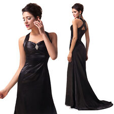 Satin Evening Party Cocktail Formal Full-Length Mermaid Luxury Noble Black Dress