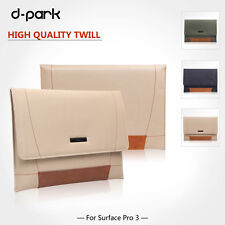 """d-park  Universal Twill&Leather  Pouch Sleeve Case For 11.6"""" Laptop & 12"""" Tablet"""