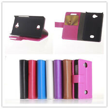 New Litchi Leather slot wallet Cover stand Flip Case for NOKIA ASHA 503