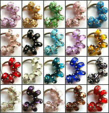 100pcs Wholesale Lampwork Murano Glass Beads Fit European Charm Bracelet NO.03