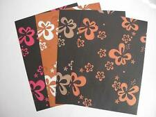 5 Sheets 1-Sided A4 Colour Flower Backing Paper 120gsm Scrapbooking & Cardmaking