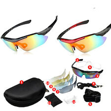 Cycling Riding Bicycle Bike UV400 Sports Sunglasses Glasses Goggles 5 Lens HOT