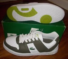 NEW LACOSTE THRILL SPACE Leather Womens 9 Mens 8 White Green NIB LTD NR