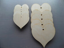Wooden Hearts, Craft Shapes, Blanks 3mm Plywood, Embellishments two sizes avai