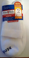 4 Pairs MediPeds Diabetic Quarter or Crew Socks FREE SHIPPING