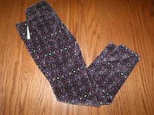 NWT WOMENS JUNIORS FREE PEOPLE BLACK CAPRIS PANTS VELVET PURPLE PINK  24 25 27