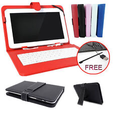 "7'' 9"" 10.1'' Inch Leather Case Cover USB Keyboard Stand for Android Tablet PC"