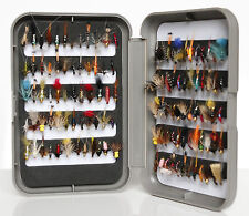 G Fly Box + Mixed Trout Fishing Flies Wet Dry Nymph Buzzers 10 25 50 100 Size 12