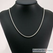Men's Women's 316L Stainless Steel Cool Bling Box Necklace Chain Silver N1V61G