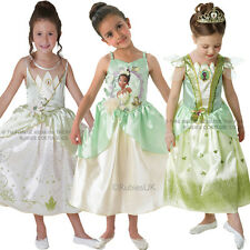 Childs Disney Princess & The Frog Tiana Kids New Book Week Fancy Dress Costume