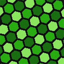 Hexagon Pattern Needlepoint Kit or Canvas NEW Painted Needle Point Canvases