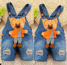 Baby Boy Newborn Denim Jeans One-piece Rompers Playsuits Dungarees Overall Pants