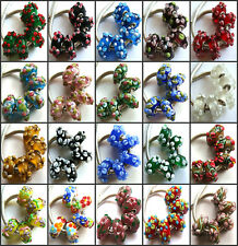 100pcs Wholesale Lampwork Murano Glass Beads Fit European Charm Bracelet NO.05