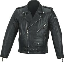 SPADA CRUISER LEATHER MOTORCYCLE MOTORBIKE JACKET - BLACK