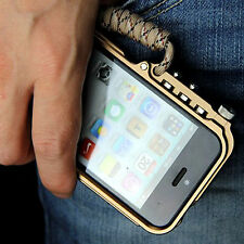 Luxury Cool Man's Metal Frame Bumper Trigger Case Cover For Apple iPhone 4 4S