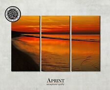 Canvas Art - Sunset On The Beach - Photo nature canvas, Canvas wall art