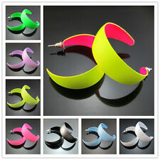 """Free ! Fashion 1.9"""" Fluorescent colors Hiphop Punk Big Hoop Circle Earring 47mm"""