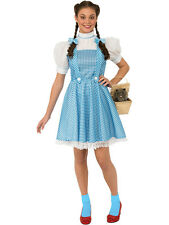 Adult Wizard of Oz Dorothy Outfit Fancy Dress Costume Blue Ladies Womens Female