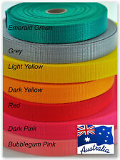 Webbing strapping 25mm polypropylene 12 COLOURS  5 METRES