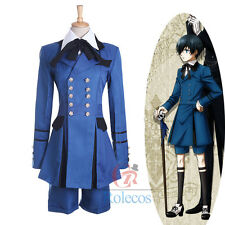 Black Butler Ciel Phantomhive Cosplay Costume cospaly Full Set Outsite Unsex
