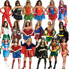 Licensed Adult Ladies Sexy Superhero New Fancy Dress Costume Superheroes Movie
