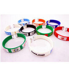 NEW Football World Cup Brazi new silicone bracelets wristbands country SH
