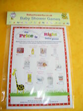 .the price is right baby shower quiz game