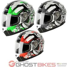 NITRO N2100 SAMURAI FULL FACE URBAN SPORT MOTORCYCLE MOTORBIKE CRASH HELMET