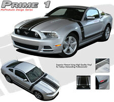 Complete Retro Boss 302 Style Hood Side Graphics Decal Stripes 2013-2014 Mustang